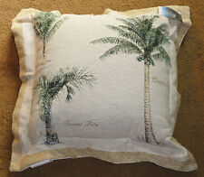 Island Breeze Palm Trees Coconut/Spindal palm Large Tapestry Pillow w/Flange