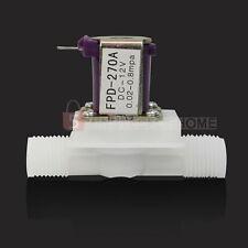 "1/2"" DC12V Elettrovalvola per Liquido Acqua Fluido 1-100℃ Normalmente Chiusa"