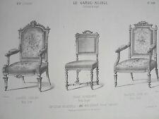 Fauteuil Louis XIV Louis XVI Chaise RENAISSANCE le GARDE-MEUBLE DESTOUCHES 19éme