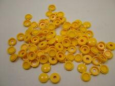 Cache-vis à charnière,numéro de plaque jaune,paquet 100,compatible avec 6 &.8
