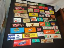 Vintage Soda Pop Advertising Vending Machine Label Sign Lot (p355)