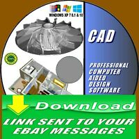 2D/3D MODELING PROFESSIONAL CAD COMPUTER AIDED DESIGN MULTI FORMAT FAST DOWNLOAD