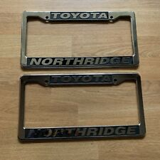NORTHRIDGE TOYOTA License Plate Frame Plastic California Parts Car Corolla