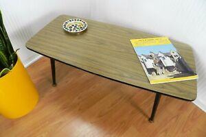 ATOMIC RETRO 1950 / 60s DANSETTE LEGGED COFFEE SIDE TABLE WOOD EFFECT