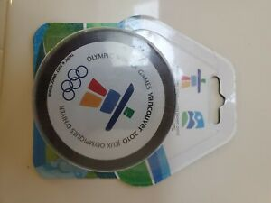 Vancouver 2010 Olympic Winter Games Souvenir Hockey Puck - NEW - unopened