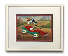 FLINTSTONES HAND PAINTED HANNA BARBERA SIGNED ANIMATION CEL FRAMED #/300 JSA COA