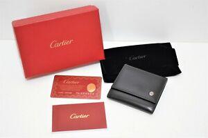 Cartier, Jolie porte-monnaie en cuir noir