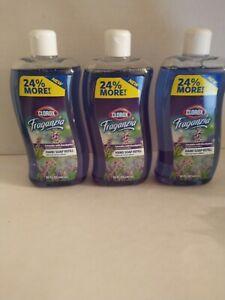 CLOROX Fraganzia Lavender Eucalyptus Hand Soap Refill LOT 3 Pack, 14 oz Bottle