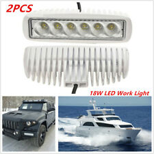 2pcs 18W 12V Spreader Led Stainless White Car Marine Yacht Flood Light Work Lamp