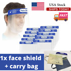 Full Face Anti-Splash Shield Mask W/ Reusable Washable Protection Carrying Bag