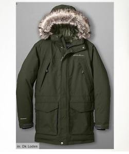 NWT Eddie Bauer 17 Men's Superior Down Parka Coat Weatheredge Black/Indigo/Loden