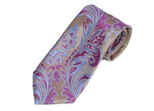 Lord R Colton Masterworks Tie - Sanliurfa Tuscan Gold Floral Silk Necktie - New