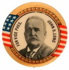 ROOSEVELT'S ONE TIME BOSS & COMPETITION FOR 1900 V.P.  HOPEFUL BUTTON.