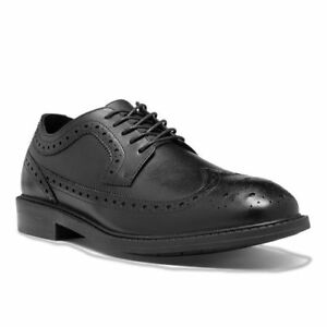 Dunham Grayson Black Leather Wing Tip Lace Up US 10 D