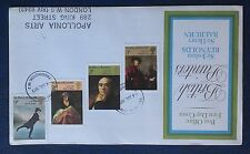 ERROR POST OFFICE FIRST DAY COVER BRITISH PAINTERS UPSIDE DOWN STAMPS RARE FDC