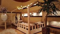 Lit cabane Lit pour enfantslit d'enfant,lit cabane avec barrière 5 jours 🚚