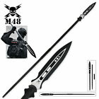 65 1/2' M48 Magnum Polearm HUNTING SPEAR With Sheath STAINLESS STEEL BLADE NEW
