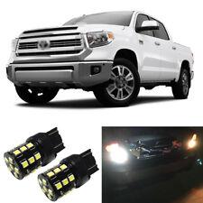White LED 7440 W21W Backup Reverse Light Bulbs For 2014-2018 2019 Toyota Tundra