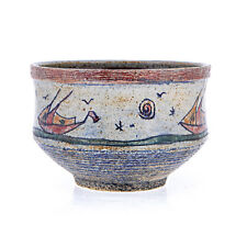 Decorative Bowl - Handmade Ceramic Bowl, Tabletop Decor - Sailing Ships Design