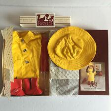 American Girl Pleasant Company Molly Raincoat Slicker Hat Umbrella and Galoshes