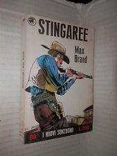 STINGAREE Max Brand Sonzogno 1969 I Nuovi Sonzogno 89 romanzo libro narrativa di