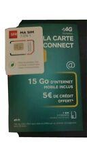 30 cartes SIM Prépayées SFR la Carte Connect 15go Internet de Crédit inclus