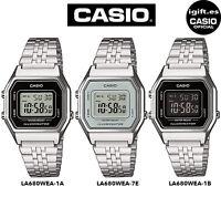 CASIO LA680WEA-7EF*LA680WEA-1A*LA680WEA-1B*ORIGINAL*PLATEADO*MEDIANO*RETRO*MUJER