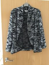 Ladies Black Grey And White Cardigan By Dennis Day Designer Size S