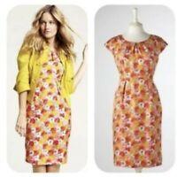 Boden Women's Size 4 Short Cap Sleeve Scoop Neck Floral Silk Dress