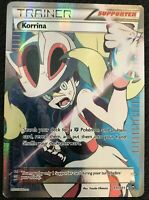 FULL ART Korrina ULTRA RARE 111/111 Pokemon XY Furious Fists Trainer Card - LP