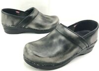 Sanita Factory Distressed Gray Leather Stapled Pro Clogs size EU-38 US - 8