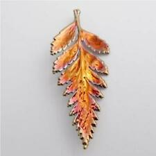 real fern leaf copper brooch / pendant - real leaf jewellery + box