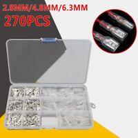 270PCS 2.8mm/4.8mm/6.3mm Female Male Spade Connectors Wire Crimp Terminals