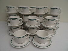 Vintage Retro 1950's Homer Lauglin Diner Restaurant Coffee Cup and Saucers
