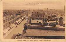 St Thomas Ontario Canada Birds Eye View from Grand Central Hotel Postcard J52747