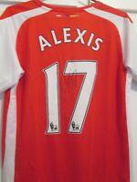 Alexis Sanchez Arsenal 2014-2015 Signed Home Football Shirt  COA