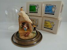 """Olszewski's """"3 Little Pigs, Wolf and Display with Dome"""" New"""