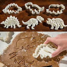3PCS Dinosaur Plunger Cookie Cutter Biscuit Pastry Cake Decorating Baking Molud