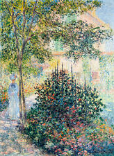 Camille Monet in the Garden at Argenteuil by Claude Monet 60cm x 44.5cm Print