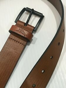 Tommy Bahama Textured Tan Leather Belt L 38-40