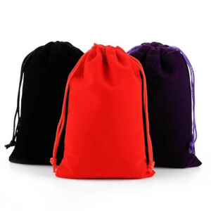 15X Small Gift Bag Velvet Cloth Drawstring Bag Jewelry Ring Pouch Wedding Favors