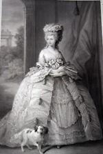 REINE ANGLETERRE SOPHIE CHARLOTTE MECKLEMBOURG STRELITZ 1838 GRAVURE R2577