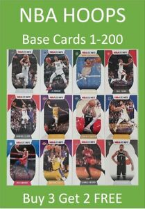 2020/21 NBA Hoops Base Cards Buy 3 Get 2 FREE - LeBron Zion Curry Durant Morant
