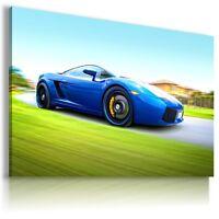 LAMBORGHINI GALLARDO BLUE Sports Cars Wall Art Canvas Picture AU519 MATAGA .