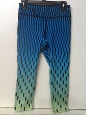 Women's  Forever 21 Blue Green Black Fitness Cropped Tights Size S Small NWT New