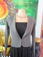 Metalicus Jacket/Bolero Grey & Black Size  8/10/12