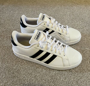 Men's Adidas Grand Court Base Lace up Casual Trainers White BNWT