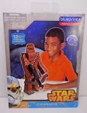 Blue Prints Disney Star Wars Chewbacca Paper Craft Die Cut Pose-able Figure