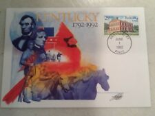 29 Cent Stamp Kentucky 1992 FDC First Day Cover 6/1/92 Danville KY Postmark