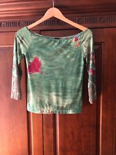 New Plein Sud Jeans Green Long Sleeve Top Tee Size 40/8